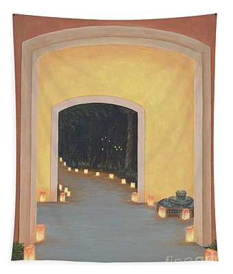 Doorway To The Festival Of Lights Tapestry