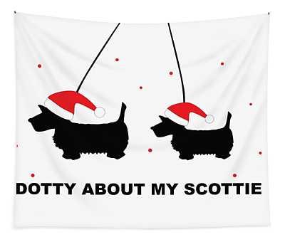 Dotty About My Scottie - Xmas Tapestry
