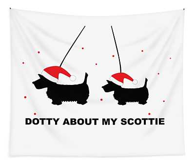 Dotty About My Scottie - Xmas Tapestry