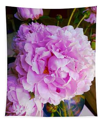 Double Peonies Tapestry