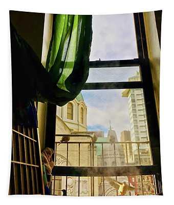 Doves In My Window Tapestry