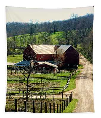Down A Country Road Tapestry