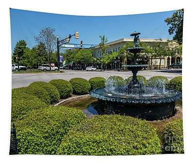 Downtown Aiken Sc Fountain Tapestry