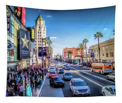 Downtown Hollywood Boulevard Tapestry