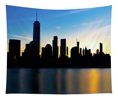 Downtown Silhouette Tapestry