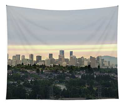 Downtown Sunset Tapestry
