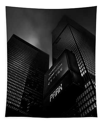 Downtown Toronto Fogfest No 16 Tapestry