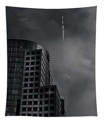 Downtown Toronto Fogfest No 7 Tapestry