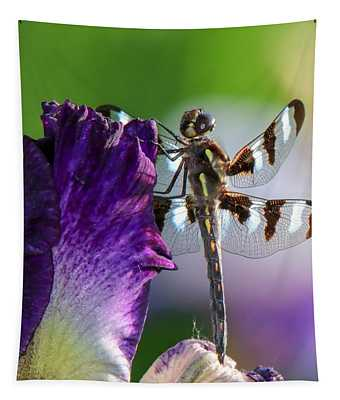 Dragonfly On Iris Tapestry