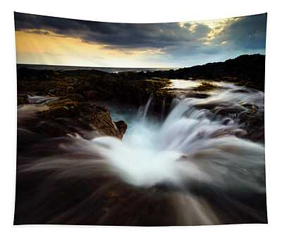 Dramatic Blow Hole Tapestry