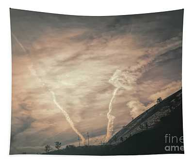Dramatic Sky Foothills Grapevine Los Angeles  Tapestry