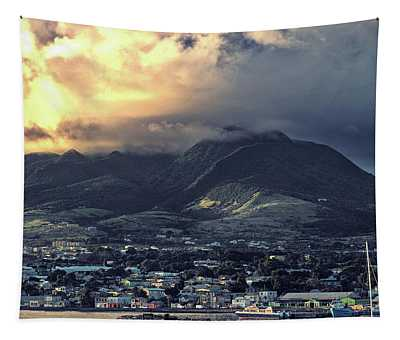 Dramatic Sky Over Basseterre, St. Kitts Island Tapestry