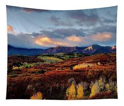 Dramatic Sunrise In The San Juan Mountains Of Colorado Tapestry