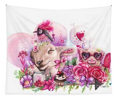 Dreaming Of A Sweet Valentine Tapestry