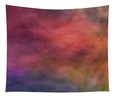 Dreamy Soft Flowing Pastel Abstract Background With Red. Pink, Purple, Blue And Green Shapes Tapestry