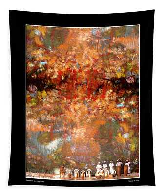 Drummers In A Leaf Storm Fine Art Poster Tapestry