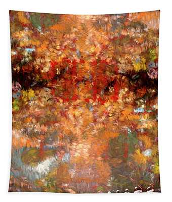 Drummers In A Leaf Storm Tapestry