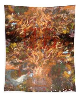 Drummers In A Windswept Dream Tapestry