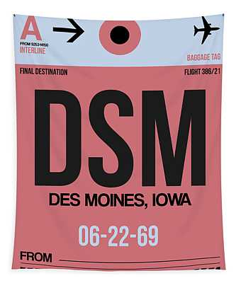 Dsm Des Moines Luggage Tag I Tapestry