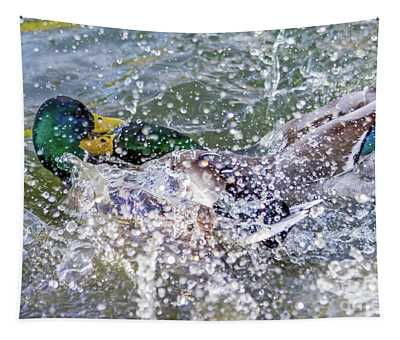Duck Fight Tapestry