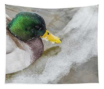 Duck In The Winter  Tapestry