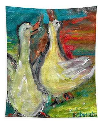 Ducks Just Want To Have Fun Tapestry