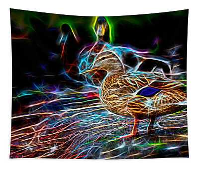 Ducks On Shore Wizard Tapestry
