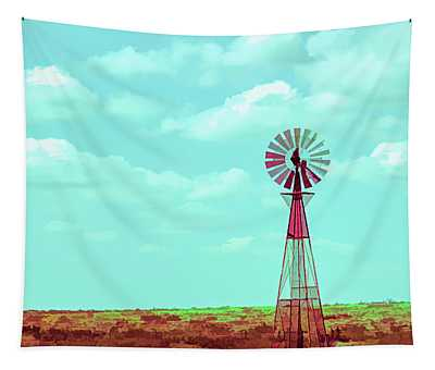 Dueling Tones Windmill Tapestry
