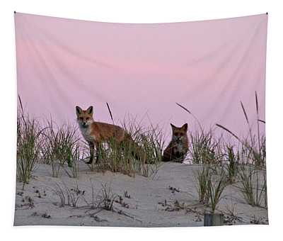 Dune Foxes Tapestry