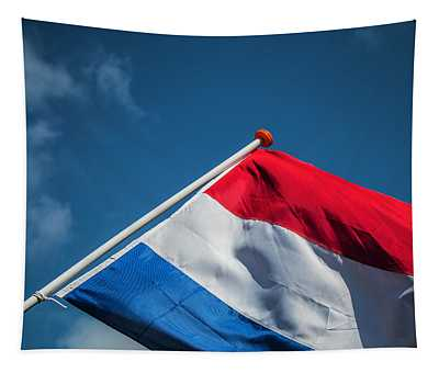 Tapestry featuring the photograph Dutch Flag by Anjo Ten Kate
