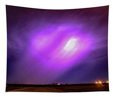 Dying Late Night Supercell 016 Tapestry