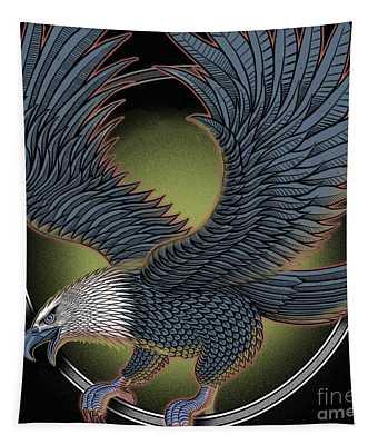 Eagle Illustration  Tapestry