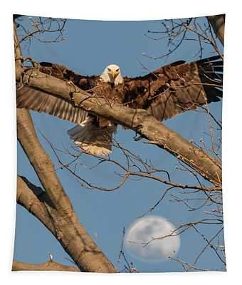 Eagle Moon 2 Tapestry