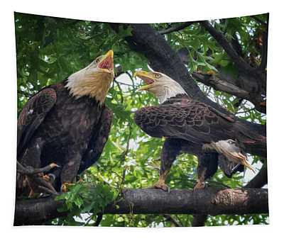 Eagle Pair  Tapestry