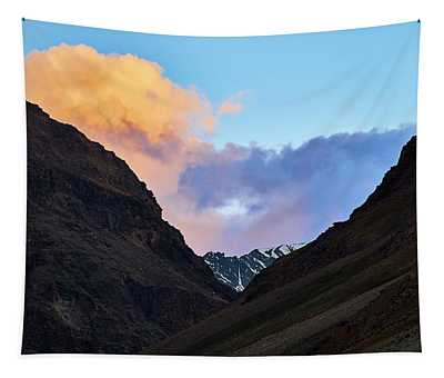 Tapestry featuring the photograph Early Morning Clouds In Sarchu by Whitney Goodey