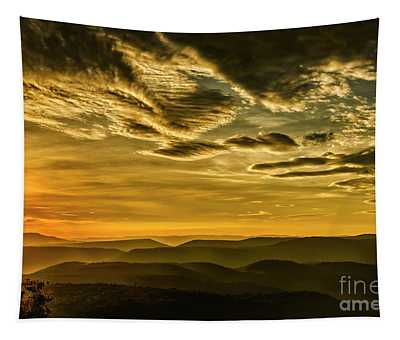Early Morning In The Mountains Tapestry