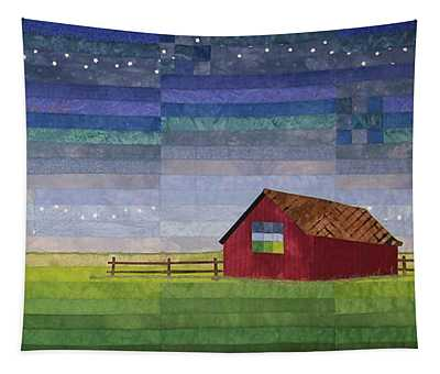 Early Morning Nine Patch Tapestry