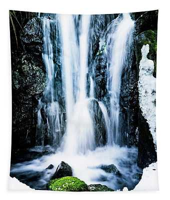 Early Spring Waterfall Tapestry