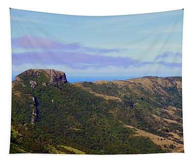 Akaroa Caldera Overlooking The South Pacific, New Zealand Tapestry
