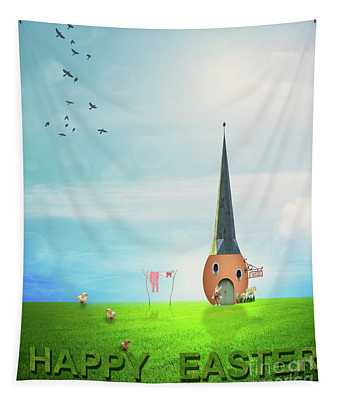 Easter House Tapestry