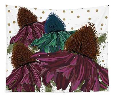 Echinacea Flower Skirts Tapestry