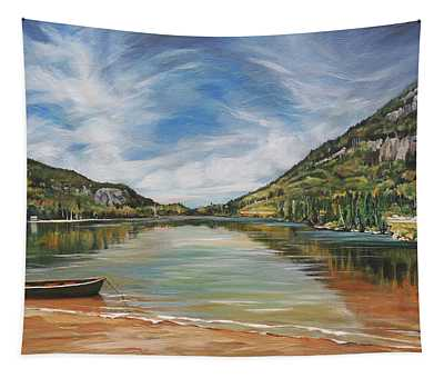 Echo Lake In Franconia Notch New Hampshire Tapestry