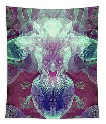 Efflorescence In Burgundy And Turquoise Tones Tapestry