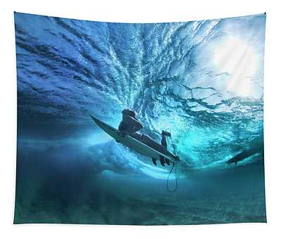 Ehukai Duck-dive Tapestry