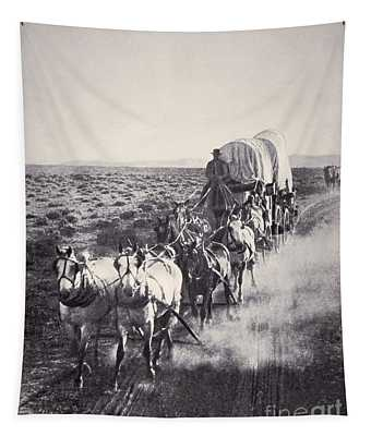 Eight Horse Heavy Freight Wagon Tapestry