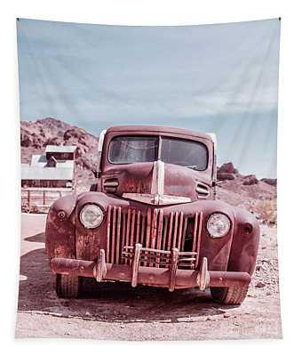 Eldorado Ghost Town Old Ford Pickup Truck Tapestry