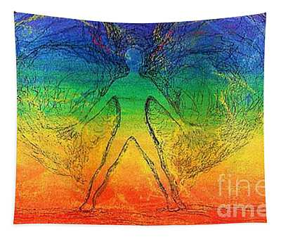 Electric Angel Wide Format Tapestry