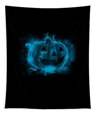 Electric Pumpkin Tapestry