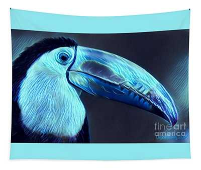 Electric Toucan Tapestry