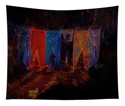 Electric Washline Tapestry